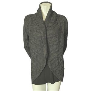 Olsen Europe Wool Blend Cable Knit Cardigan 40